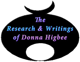 The Research & writings of Donna Higbee